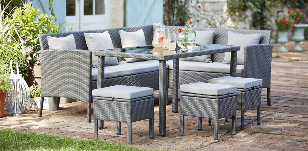 Rattan Garden Furniture Tesco home & garden - white rose centre